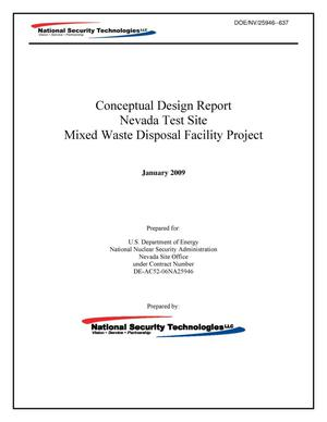 Primary view of object titled 'Conceptual Design Report: Nevada Test Site Mixed Waste Disposal Facility Project'.