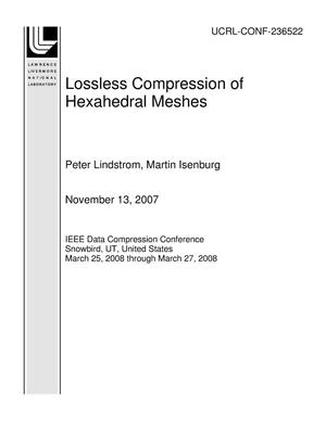 Primary view of object titled 'Lossless Compression of Hexahedral Meshes'.