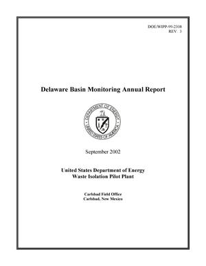 Primary view of object titled 'Delaware Basin Monitoring Annual Report'.