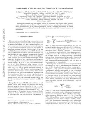 Primary view of object titled 'Uncertainties in the Anti-neutrino Production at Nuclear Reactors'.