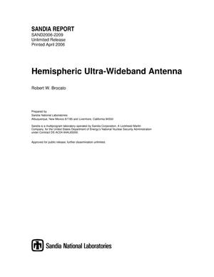 Primary view of object titled 'Hemispheric ultra-wideband antenna.'.
