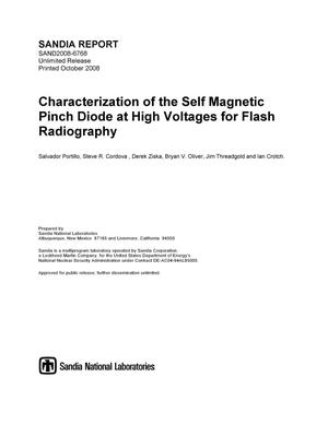 Primary view of object titled 'Characterization of the self magnetic pinch diode at high voltages for flash radiography.'.