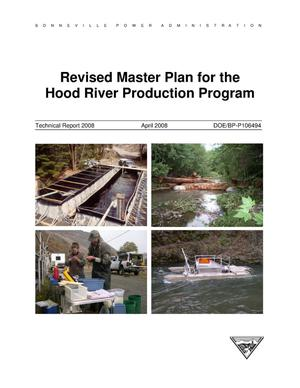 Primary view of object titled 'Revised Master Plan for the Hood River Production Program, Technical Report 2008.'.