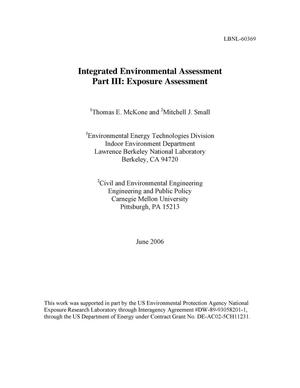 Primary view of object titled 'Integrated Environmental Assessment Part III: ExposureAssessment'.