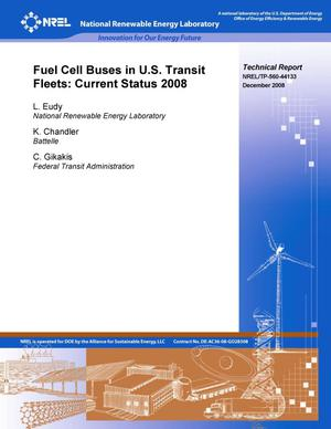 Primary view of object titled 'Fuel Cell Buses in U.S. Transit Fleets: Current Status 2008'.