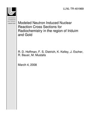 Primary view of object titled 'Modeled Neutron Induced Nuclear Reaction Cross Sections for Radiochemistry in the region of Iriduim and Gold'.