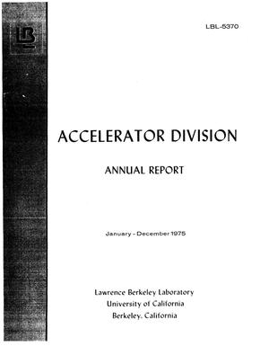 Primary view of object titled 'Accelerator Division Annual Report, Jan-Dec. 1975'.