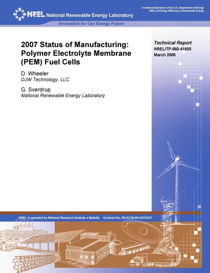 2007 Status of Manufacturing: Polymer Electrolyte Membrane (PEM