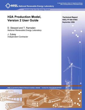 Primary view of object titled 'H2A Production Model, Version 2 User Guide'.