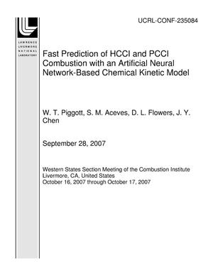Primary view of object titled 'Fast Prediction of HCCI and PCCI Combustion with an Artificial Neural Network-Based Chemical Kinetic Model'.