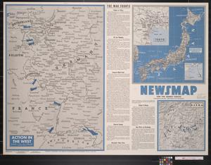 Primary view of object titled 'Newsmap. For the Armed Forces. 273rd week of the war, 155th week of U.S. participation'.