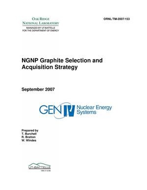 Primary view of object titled 'NGNP Graphite Selection and Acquisition Strategy'.