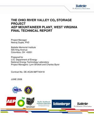 Primary view of object titled 'The Ohio River Valley CO2 Storage Project AEP Mountaineer Plan, West Virginia'.