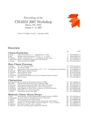 Primary view of object titled 'Proceedings of the International Workshop on Charm Physics'.