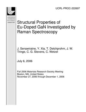 Primary view of object titled 'Structural Properties of Eu-Doped GaN Investigated by Raman Spectroscopy'.