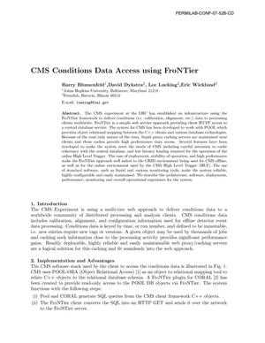 Primary view of object titled 'CMS conditions data access using FroNTier'.