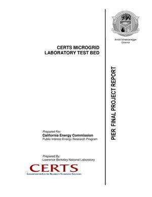 Primary view of object titled 'CERTS Microgrid Laboratory Test Bed - PIER Final Project Report'.