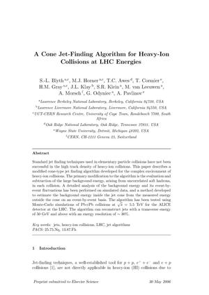 Primary view of object titled 'A Cone Jet-Finding Algorithm for Heavy-Ion Collisions at LHCEnergies'.