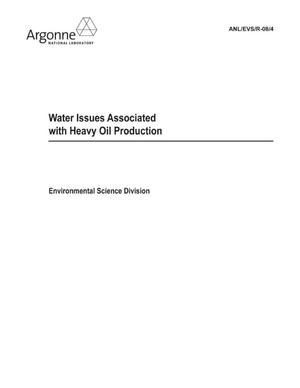 Primary view of object titled 'Water issues associated with heavy oil production.'.