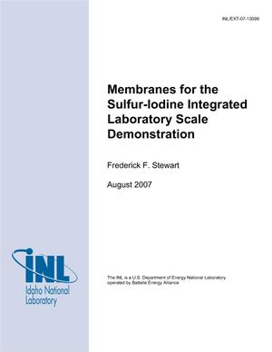 Primary view of object titled 'Membranes for the Sulfur-Iodine Integrated Laboratory Scale Demonstration'.