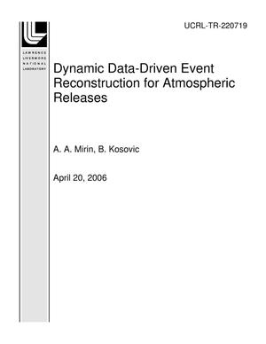 Primary view of object titled 'Dynamic Data-Driven Event Reconstruction for Atmospheric Releases'.