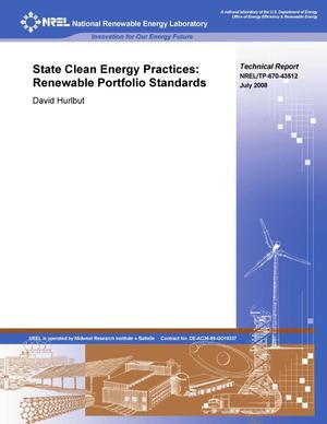 Primary view of object titled 'State Clean Energy Practices: Renewable Portfolio Standards'.