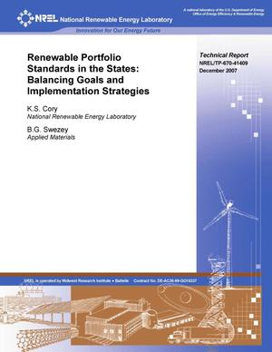 Primary view of object titled 'Renewable Portfolio Standards in the States: Balancing Goals and Implementation Strategies'.