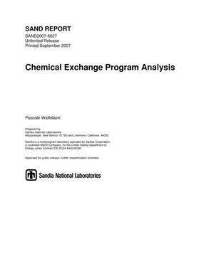 Primary view of object titled 'Chemical exchange program analysis.'.