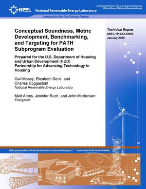 Primary view of object titled 'Conceptual Soundness, Metric Development, Benchmarking, and Targeting for PATH Subprogram Evaluation'.