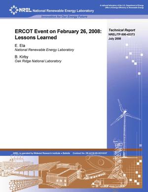 Primary view of object titled 'ERCOT Event on February 26, 2008: Lessons Learned'.