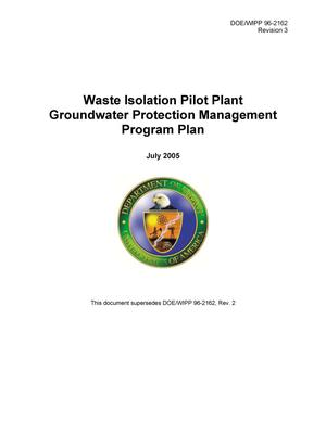 Primary view of object titled 'Waste Isolation Pilot Plant Groundwater Protection Management Program Plan'.