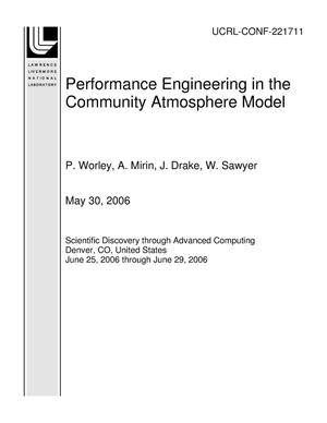 Primary view of object titled 'Performance Engineering in the Community Atmosphere Model'.