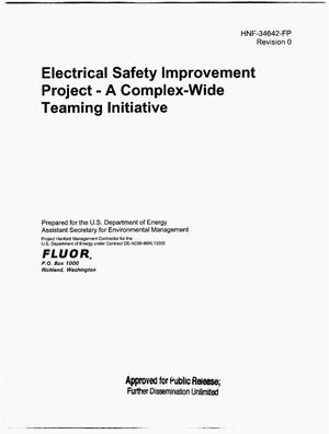 Primary view of object titled 'ELECTRICAL SAFETY IMPROVEMENT PROJECT A COMPLEX WIDE TEAMING INITIATIVE'.