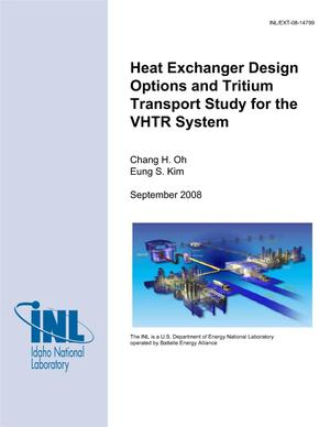 Primary view of object titled 'Heat Exchanger Design Options and Tritium Transport Study for the VHTR System'.