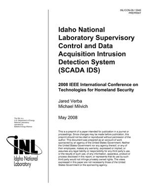 Primary view of object titled 'Idaho National Laboratory Supervisory Control and Data Acquisition Intrusion Detection System (SCADA IDS)'.
