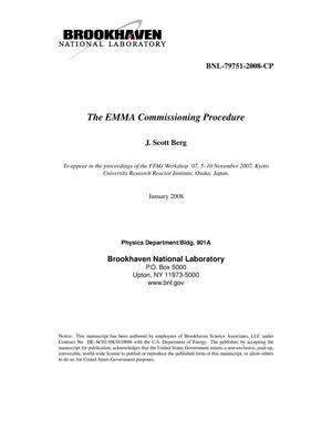 Primary view of object titled 'THE EMMA COMMISSIONING PROCEDURE'.
