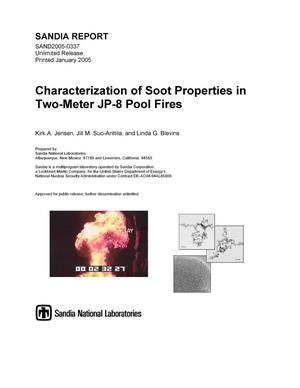 Primary view of object titled 'Characterization of soot properties in two-meter JP-8 pool fires.'.