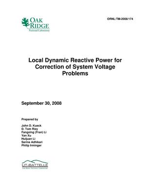 Primary view of object titled 'Local Dynamic Reactive Power for Correction of System Voltage Problems'.