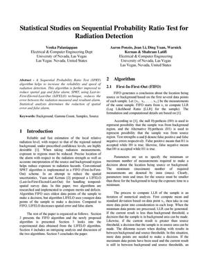 Primary view of object titled 'Statistical Studies on Sequential Probability Ratio Test for Radiation Detection'.