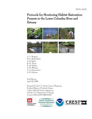 Primary view of object titled 'Protocols for Monitoring Habitat Restoration Projects in the Lower Columbia River and Estuary'.