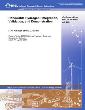 Primary view of object titled 'Renewable Hydrogen: Integration, Validation, and Demonstration'.