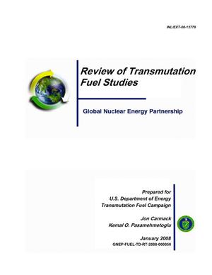 Primary view of object titled 'Review of Transmutation Fuel Studies'.