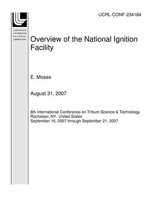 Primary view of object titled 'Overview of the National Ignition Facility'.