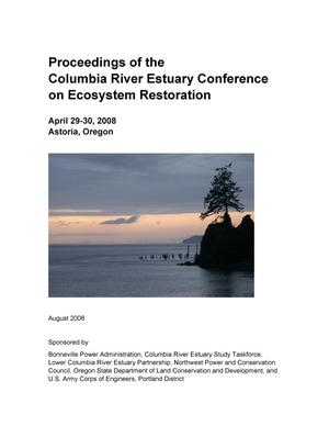 Primary view of object titled 'Proceedings of the Columbia River Estuary Conference on Ecosystem Restoration.'.