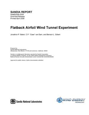 Primary view of object titled 'Flatback airfoil wind tunnel experiment.'.