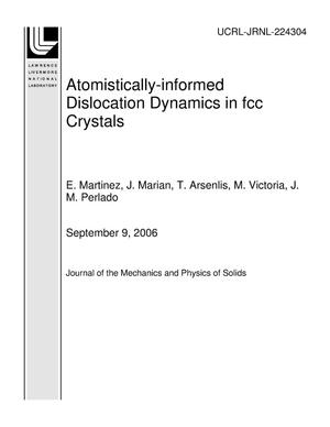 Primary view of object titled 'Atomistically-informed Dislocation Dynamics in fcc Crystals'.
