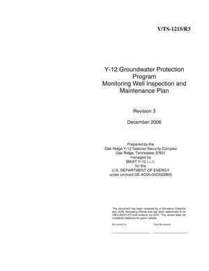 Primary view of object titled 'Y-12 Groundwater Protection Program Monitoring Well Inspection and Maintenance Plan'.