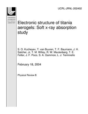 Primary view of object titled 'Electronic structure of titania aerogels: Soft x-ray absorption study'.