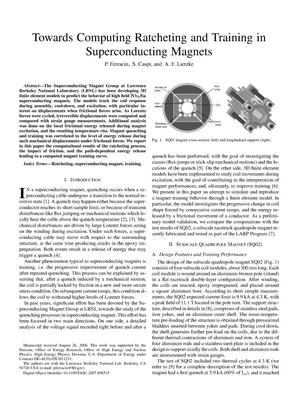 Primary view of object titled 'TowardsComputing Ratcheting and Training in Superconducting Magnets'.