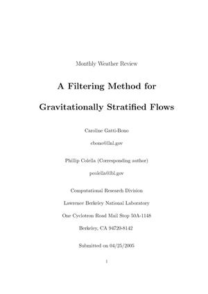 Primary view of object titled 'A Filtering Method For Gravitationally Stratified Flows'.